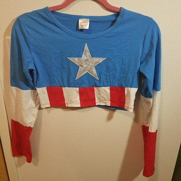 703c67e905d Marvel Tops | Captain America Crop Top | Poshmark